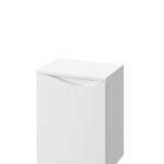 Słupek niski Defra Murcia B40 biały połysk łezka lewy 41,2x51,6x29,8cm 144-B-04004