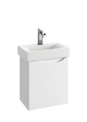 Szafka podumywalkowa Defra Murcia D50 biały połysk łezka lewa 45x50,5x29,6cm 144-D-05001