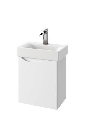 Szafka podumywalkowa Defra Murcia D50 biały połysk łezka prawa 45x50,5x29,6cm 144-D-05004