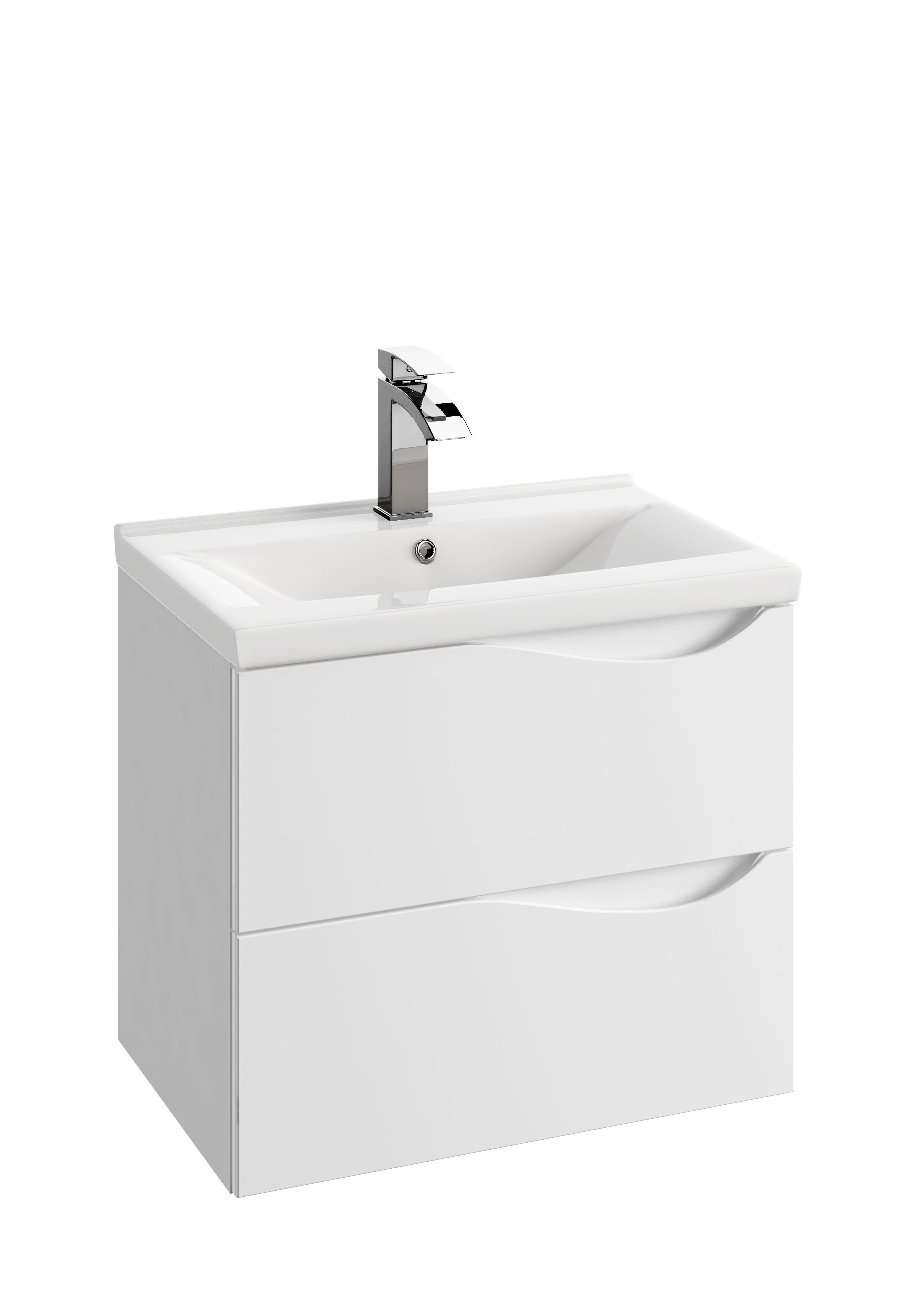 Szafka podumywalkowa Defra Murcia D60 biały połysk łezka 59,9x50x39,8cm 144-D-06004