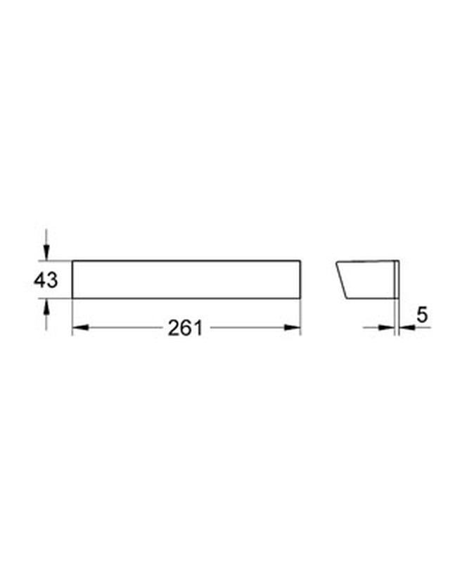 GROHE Grohtherm 2000 - półka 18608001