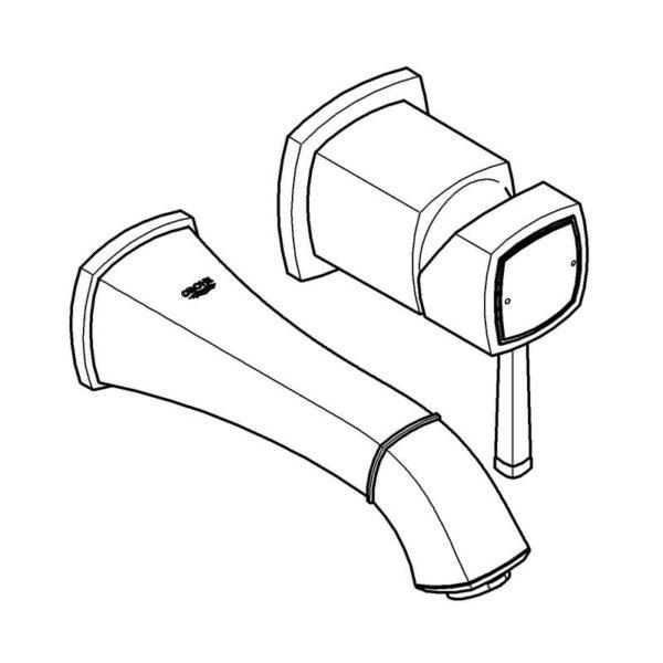 Zdjęcie Bateria umywalkowa podtynkowa Grohe Grandera 19929000