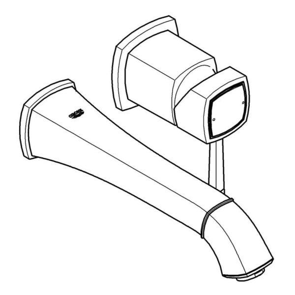 Zdjęcie GROHE Grandera – 2-otworowa bateria umywalkowa do montażu podtynkowego 19930IG0