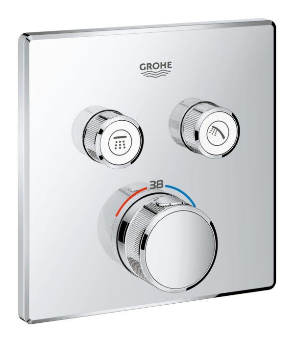 Zdjęcie GROHE Grohtherm SmartControl – podtynkowa bateria termostatyczna do obsługi dwóch wyjść wody 29124000