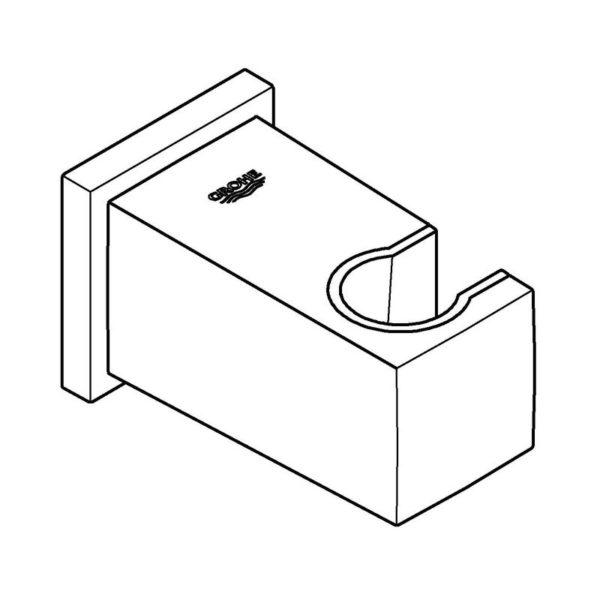 Zdjęcie GROHE Euphoria Cube – kolanko przyłączeniowe ścienne brushed hard graphite 26370AL0 .