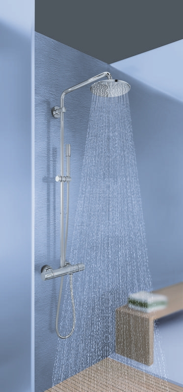 Zdjęcie GROHE Rainshower system 210 – system natryskowy ze ścienną baterią termostatyczną 27032001