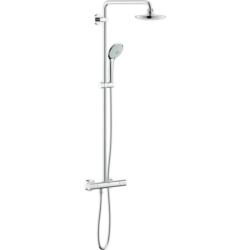 Zestaw prysznicowy z termostatem do montażu ściennego Grohe Euphoria System 180 27296001