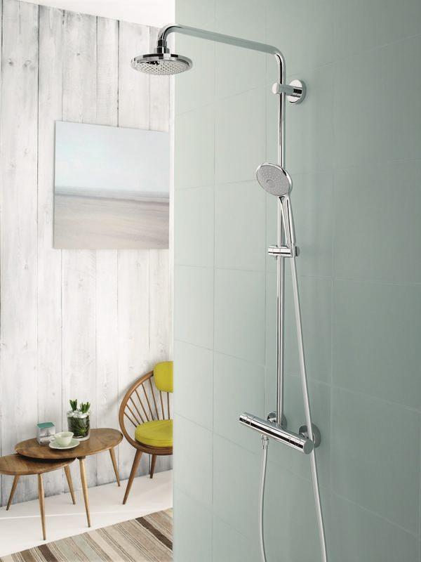Zdjęcie Zestaw prysznicowy z termostatem do montażu ściennego Grohe Euphoria System 180 27296001