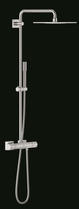 Zdjęcie System prysznicowy z termostatem do montażu ściennego Grohe Rainshower F-Series System 254 27469000