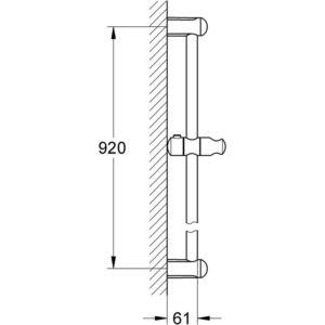 GROHE New Tempesta - drążek prysznicowy, 900 mm 27524000