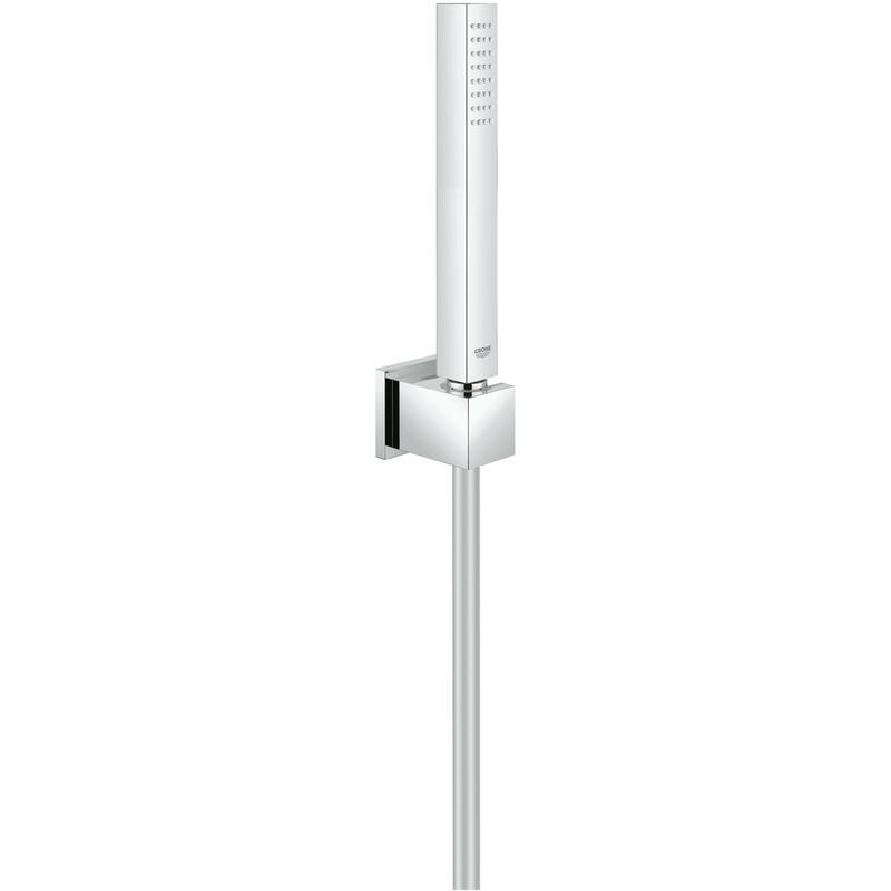 GROHE Euphoria Cube Stick - zestaw punktowy z jednostrumieniowym prysznicem ręcznym, wężem i uchwytem ściennym chrom 27702000