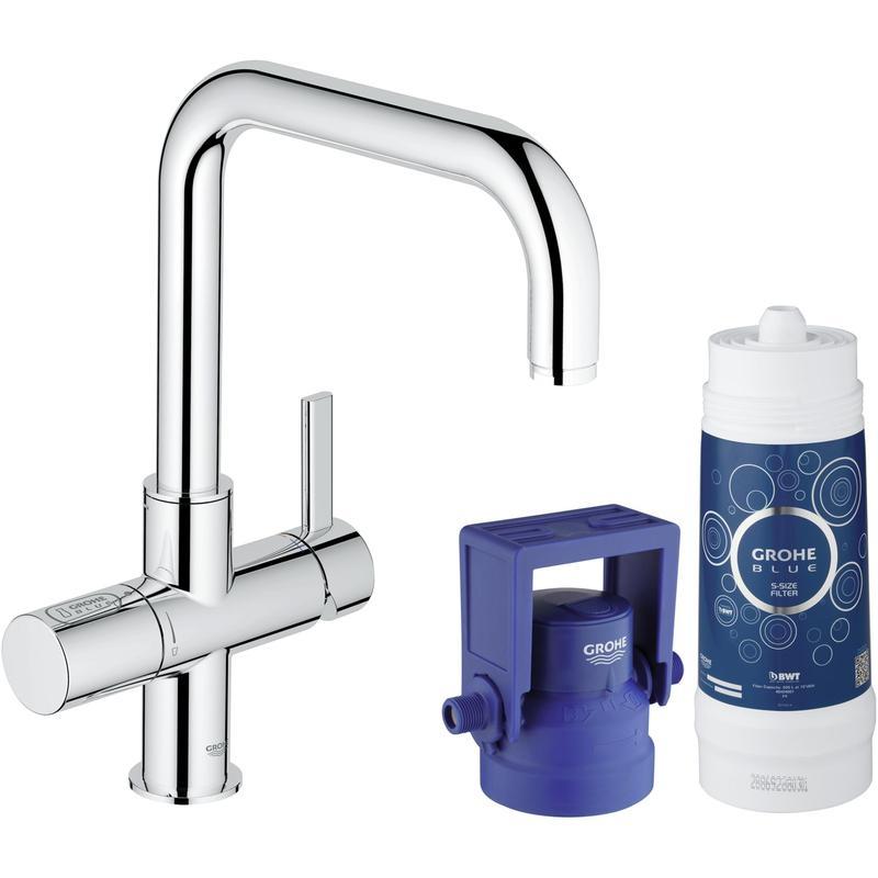 GROHE Blue® Pure - zestaw startowy: bateria z funkcją filtrowania wody, filtr, głowica filtra 31299001