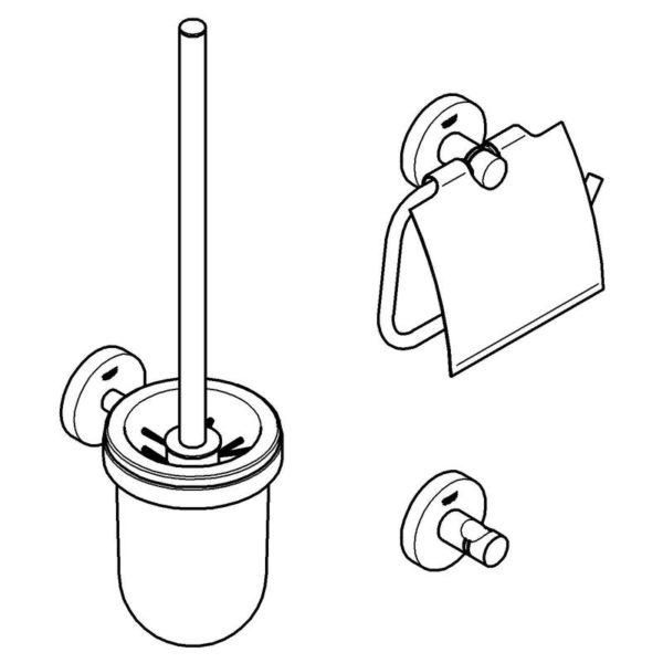 Zdjęcie GROHE Essentials 3 in 1 – zestaw akcesoriów łazienkowych 40407001