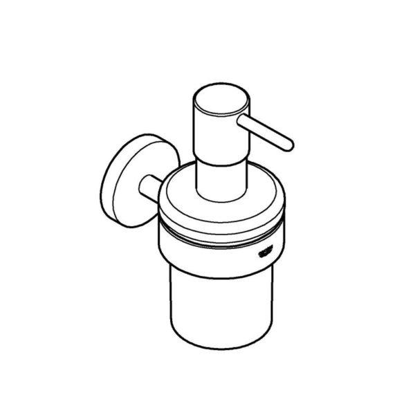Zdjęcie Dozownik na mydło z uchwytem Grohe Essentials 40448001