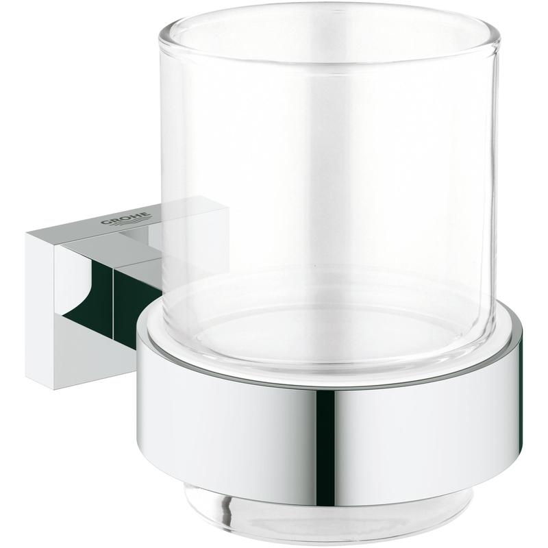 Szklanka z uchwytem Grohe Essentials Cube chrom 40755001