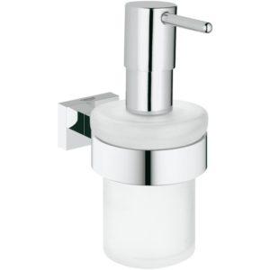 Dozownik na mydło z uchwytem Grohe Essentials Cube 40756001