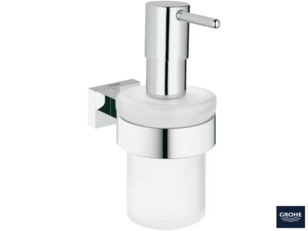 Zdjęcie Dozownik na mydło z uchwytem Grohe Essentials Cube 40756001