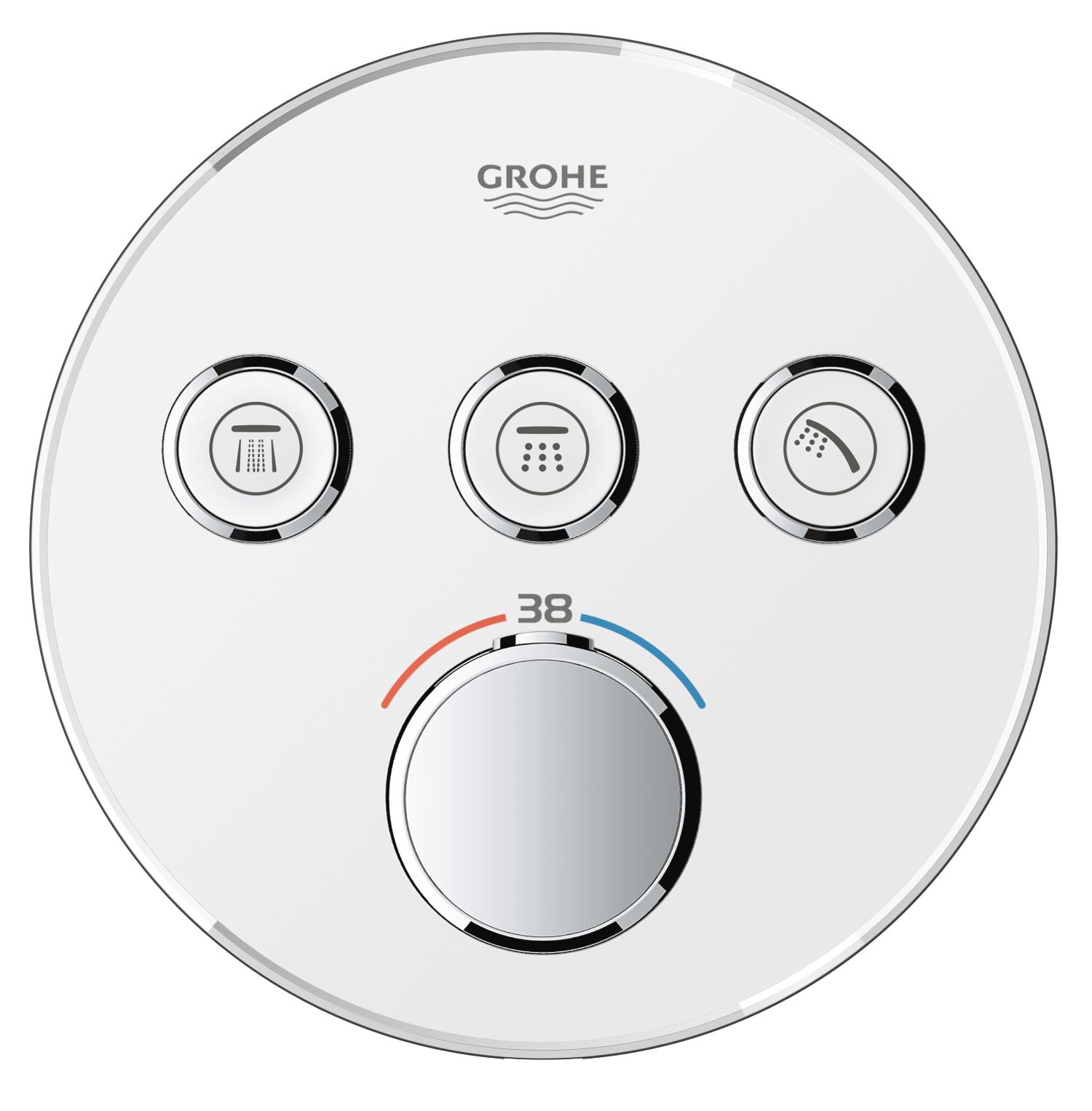 GROHE Grohtherm SmartControl - podtynkowa bateria termostatyczna do obsługi trzech wyjść wody 29904LS0
