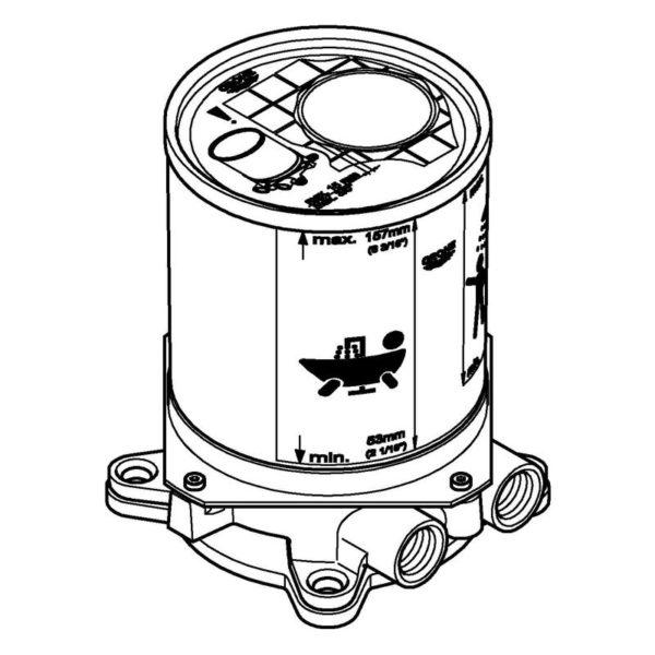 Zdjęcie Element montażowy baterii podłogowej Grohe 45984001 .