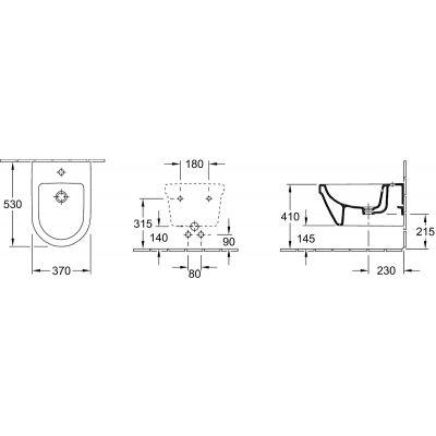 Zdjęcie Bidet podwieszany Villeroy&Boch Omnia Architectura 54840001