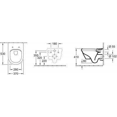 Zdjęcie Miska wisząca WC + deska wolnoopadająca Villeroy Boch Omnia Architectura DirectFlush 5684HR01+ uszczelka wygłuszająca GRATIS