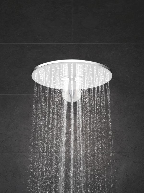 Zdjęcie GROHE Rainshower 310 SmartActive – deszczownica, 2 strumienie, z ramieniem prysznicowym moon white 26475LS0 @