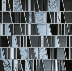 Mozaika ścienna Tubądzin Drops Stone Grey 30x30cm MS-01-172-0300-0300-1-002
