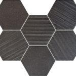 Mozaika ścienna Tubądzin Horizon hex black 28,9x22,1cm MS-01-202-0289-0221-1-013