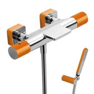 Bateria wannowa termostatyczna Tres Loft colors pomarańczowy 20017409NA