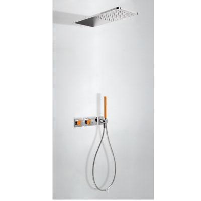 Zestaw natryskowy z baterią termostatyczną Tres Loft colors pomarańczowy 20735202NA