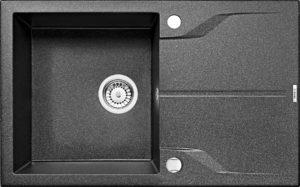 Zlewozmywak Deante Andante 1-komorowy z ociekaczem 78x49cm grafitowy ZQN2113