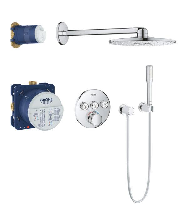 Zdjęcie GROHE Grohtherm SmartControl – system natryskowy z podtynkową baterią termostatyczną 34705000 .