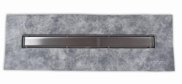 Zdjęcie Odpływ liniowy Aquadomo Grecki ze stali nierdzewnej czarny mat 60 cm