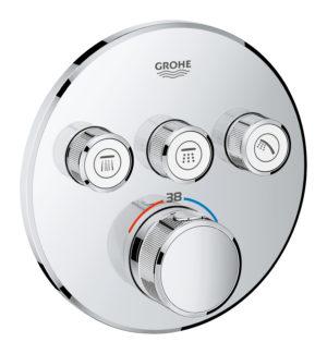 GROHE Grohtherm SmartControl - podtynkowa bateria termostatyczna do obsługi trzech wyjść wody 29121000 .