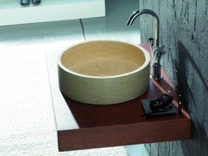 Umywalka kamienna nablatowa Bathco Bali Beige 00303