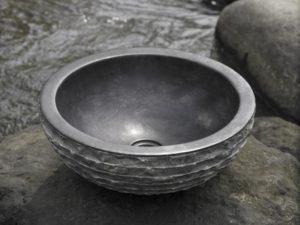 Umywalka kamienna nablatowa Bathco Puket Negro 00317