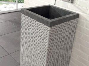 Umywalka stojąca Bathco Borneo black 45x45cm 00329/WL