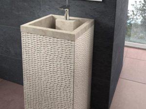 Umywalka kamienna nablatowa Bathco Borneo Beige 00330