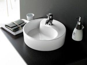 Umywalka ceramiczna Bathco Ying-Yang 0040B