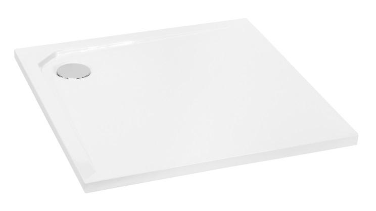 Brodzik kwadratowy Besco Acro  Ultraslim 80 biały  80x80x2 BMAC-80