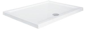 Brodzik prostokątny Besco Alpina 100 zintegrowany biały 100x80x3 BAA-10814-P