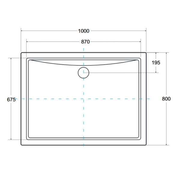 Zdjęcie Brodzik prostokątny Besco Alpina 100 zintegrowany biały 100x80x3 BAA-10814-P