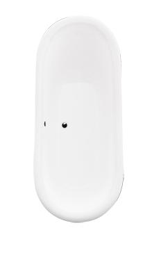 Wanna wolnostojąca Besco Amelia 190 Białe 190x77cm WKA-190WO+B