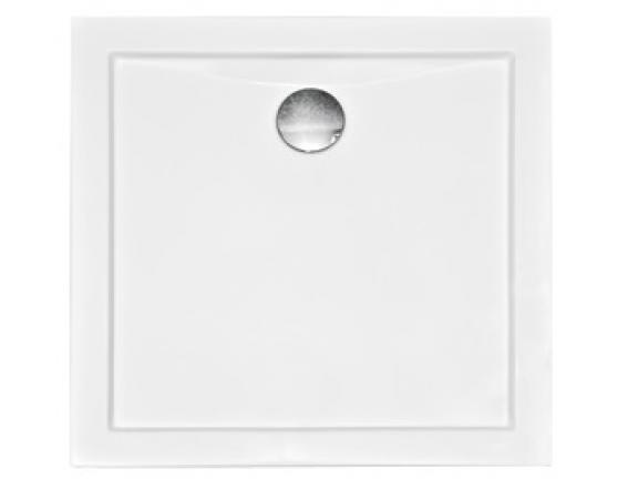 Zdjęcie Brodzik kwadratowy Besco Aquarius Slimline 80 biały 80x80x3 BAA-80-KW