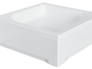 Panel do brodzika kwadratowy Besco Ares 70 biały 70x70 OAA-70-KW