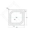 Zdjęcie Brodzik kwadratowy Besco Ares 70 biały 70x70x15 BAA-70-KW