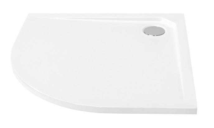 Brodzik półokrągły Besco Asco Ultraslim 80 biały 80x80x2 BMAS-80