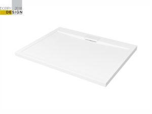 Brodzik prostokątny Besco Axim 100 biały 100x80x4.5 BAX-108-P