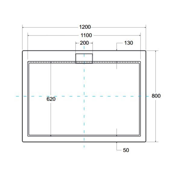 Zdjęcie Brodzik prostokątny Besco Axim 120 biały 120x80x4.5 BAX-128-P