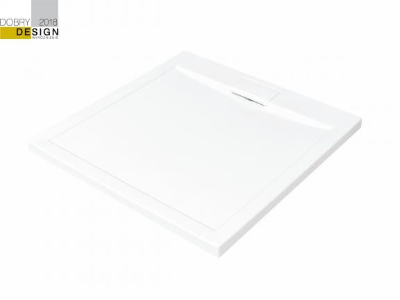 Brodzik kwadratowy Besco Axim Ultraslim Kwadratowy  80 biały 80x80x4.5 BAX-80-NR